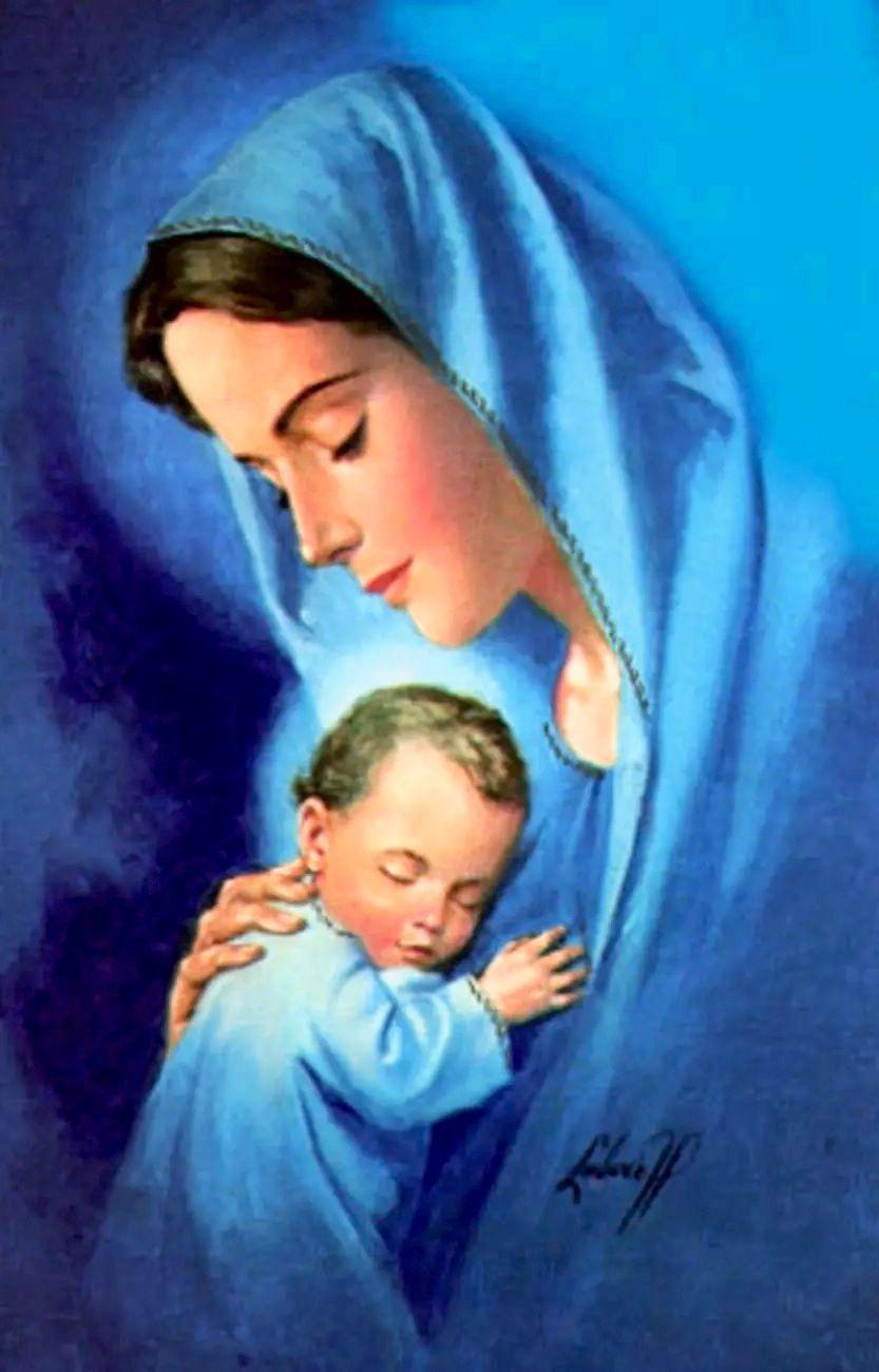 La Virgen María Y El Niño Jesús Jesucristo Pinterest Mother