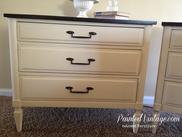 reLoved Two Toned Nightstands Painted Vintage