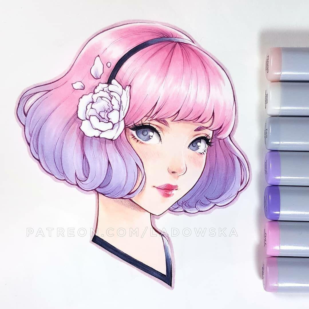 Artist Asia Ladowska Copic Marker Drawings