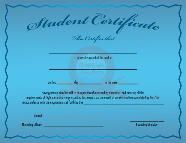 Outstanding Student Certificate Template STUDENT CERTIFICATE - best of printable student of the month certificate