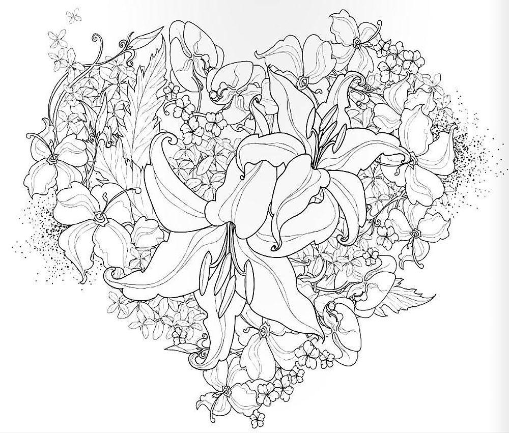 Raskraski Art Terapiya Raspechatat Kartinki Antistress Art Terapiya Raskraski Cvetochnye Raskraski Risunki Cvetov