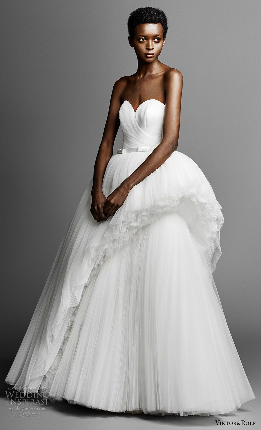 665c3be56a97 viktor and rolf spring 2019 bridal strapless sweetheart necklinr wrap over  bodice romantic ball gown a line wedding dress (3) mv -- Viktor Rolf Spring  2019 ...
