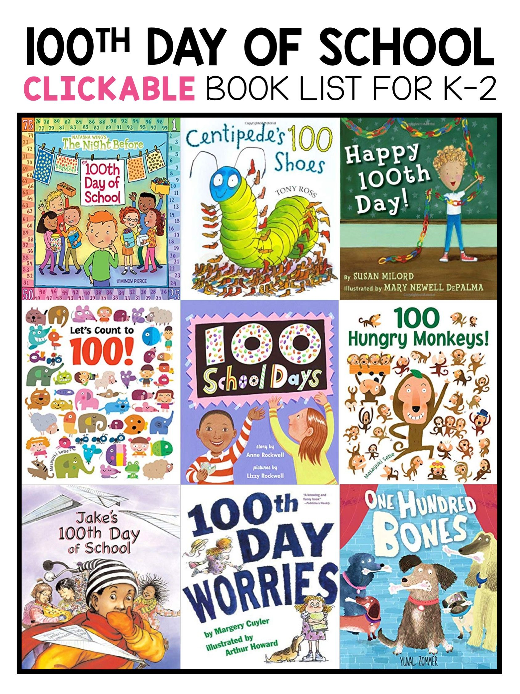Best 100th day of school picture books for kindergarten