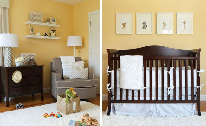 Image result for yellow gray dark wood Nursery Pinterest