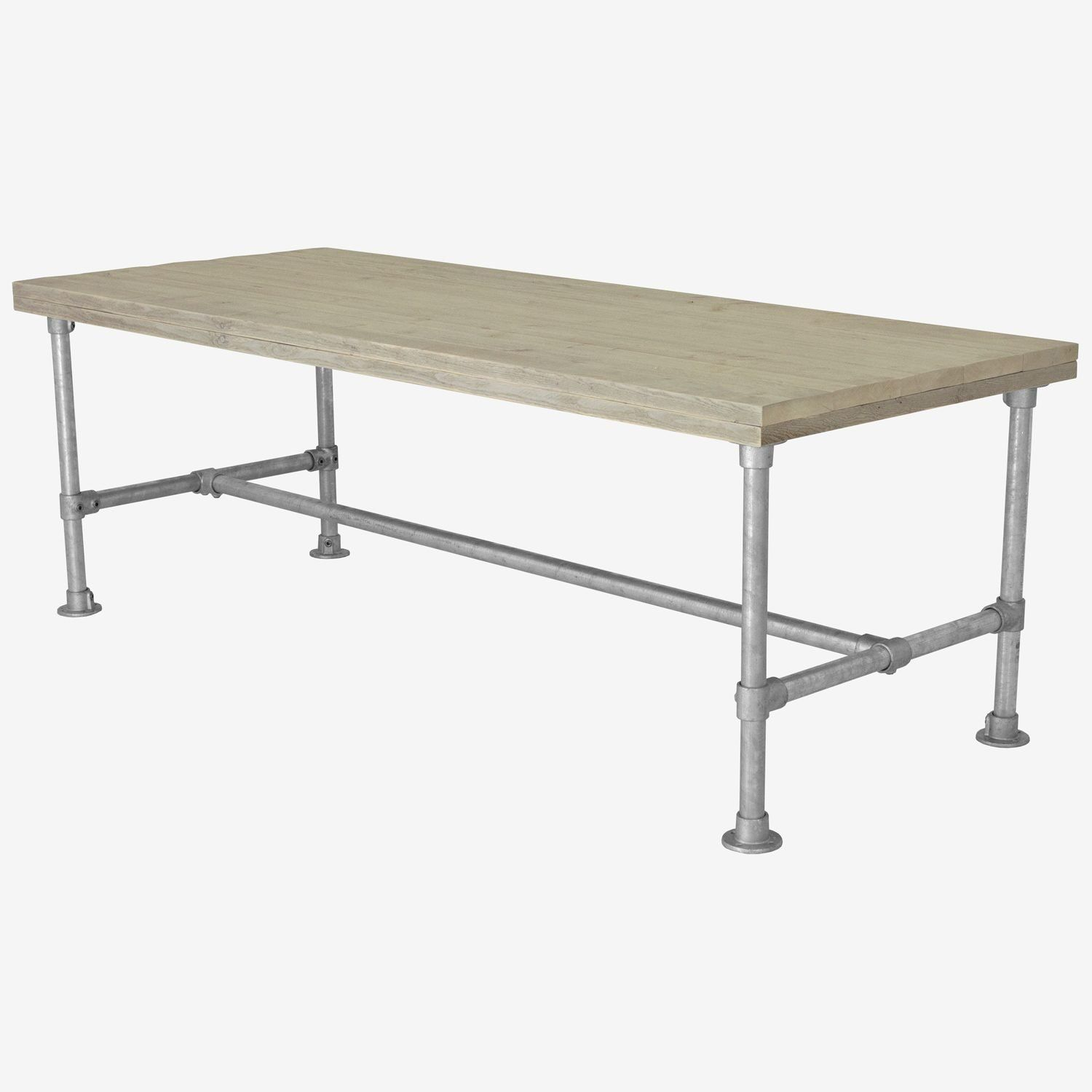 Galvanised Metal Table FRAME Kit 42mm Industrial Pipe Desk Kitchen Dining Table