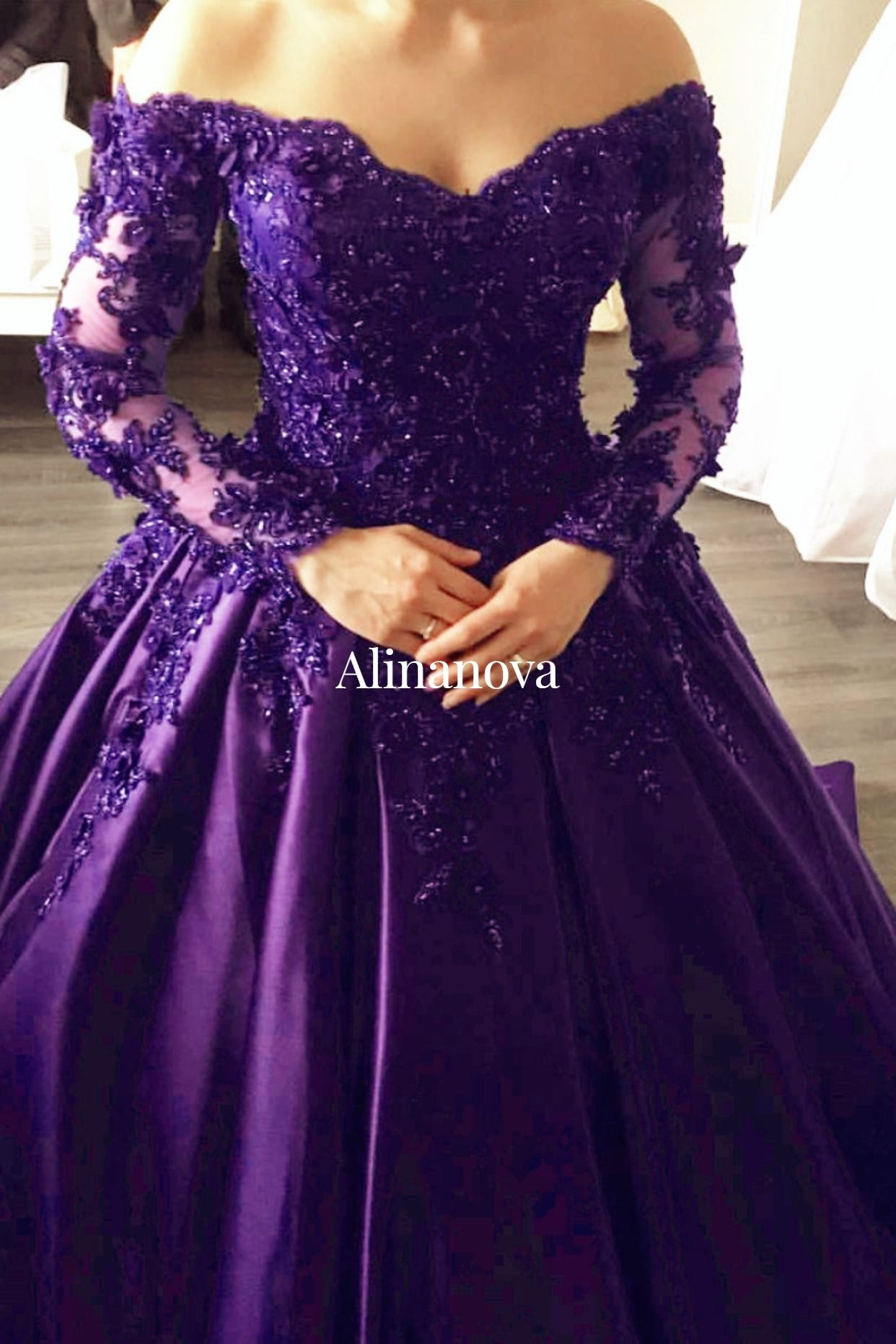 Lace Appliques Long Sleeves Ball Gowns Wedding Dresses Off Shoulder Long Sleeve Ball Gown Wedding Dress Long Sleeve Ball Gowns Gowns [ 1863 x 1242 Pixel ]