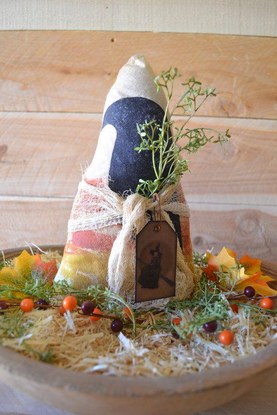 Candy Corn Crow Shelf Sitter Decoration