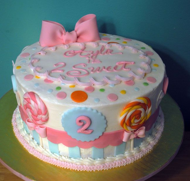 2 Year Old S Birthday Cake Cake Cake Designs For Kids Girls 2nd Birthday Cake