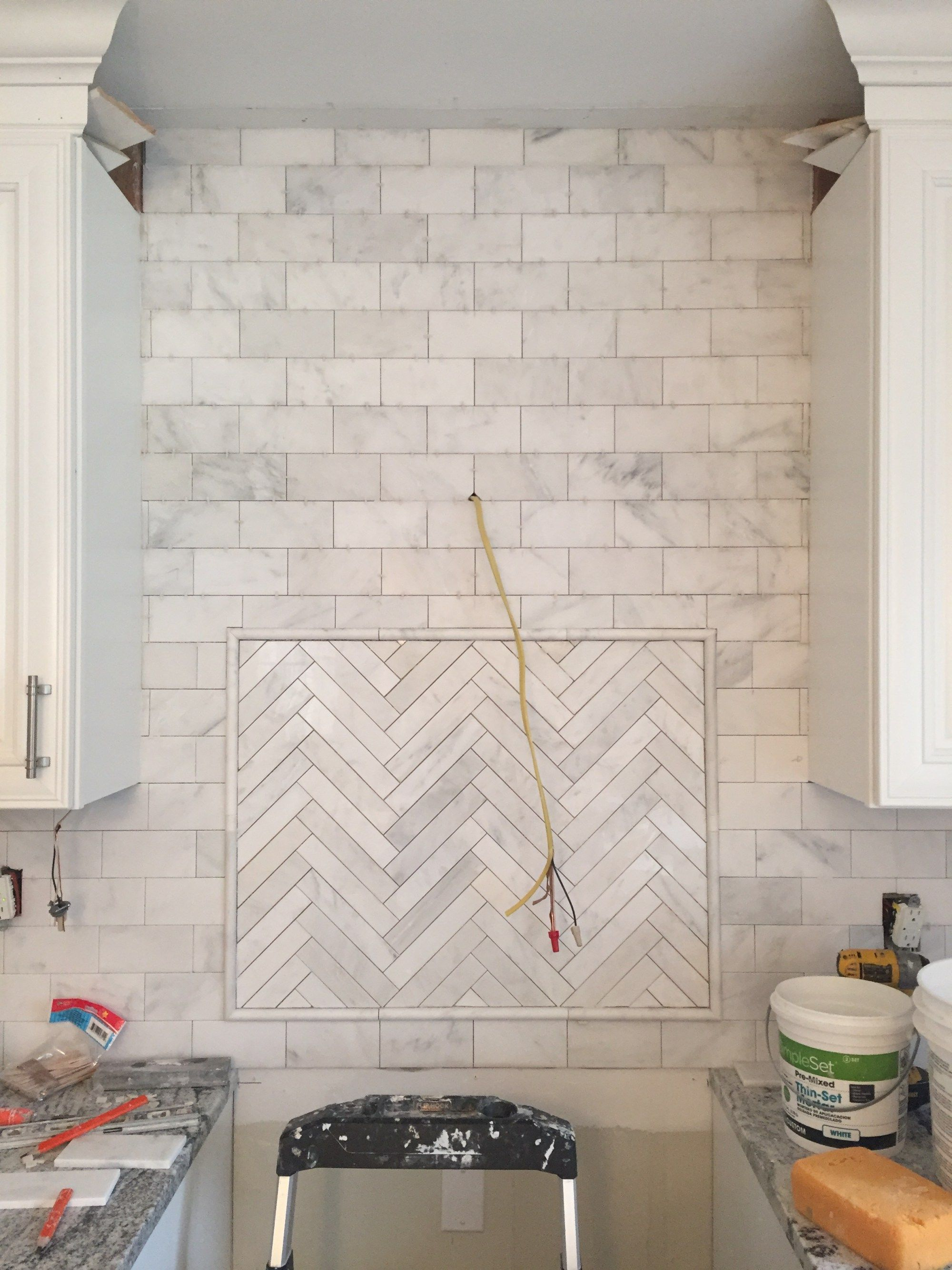 carrera marble subway tiles for