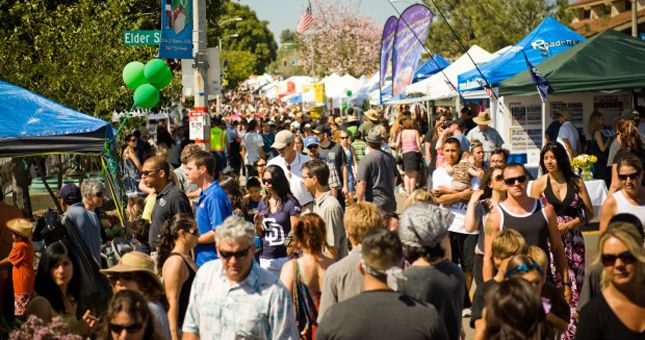 Since the 1960s, tens of thousands of avocado lovers converge in Fallbrook, located in San Diegos North County Inlandto sample avocados, check out the crazy cooking contest entries, buy funky avocado-themed gifts and enjoy bands, live entertainment and friendly beer gardens.  Come prepared to visit the many craft and food booths - you can never go hungry at the Avocado Festival. Colorful booths line Main and Alvarado Street featuring unique clothing, hats, arts, crafts, jewelry, and…