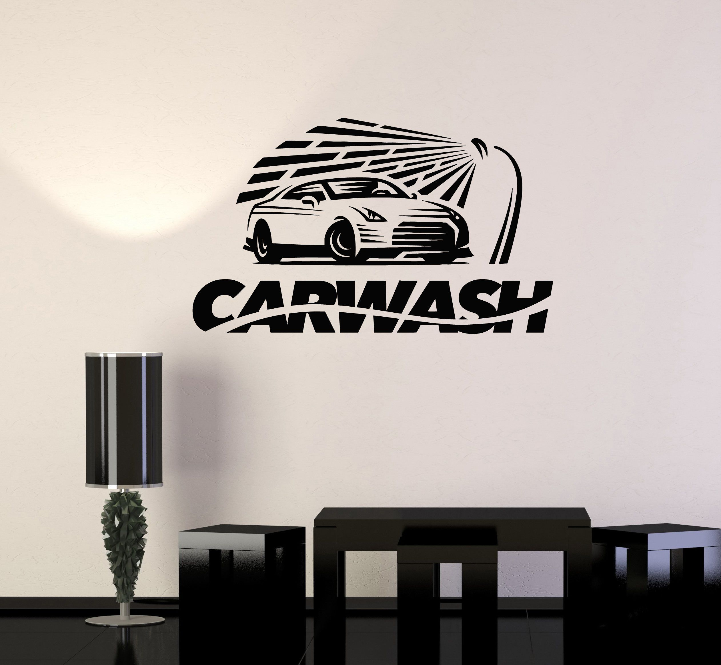 Vinyl Wall Decal Car Wash Auto Garage Service Stickers Mural Ig5313 Vinyl Wall Decals Vinyl Wall Car Wash [ 2327 x 2523 Pixel ]