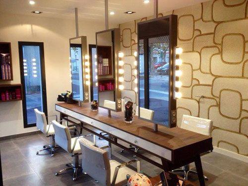 Autres Agencements Technibois Menuiserie Trichereau Le Perrier Saint Jean De Monts Challans Agencement Salon Deco Salon Salon De Coiffure