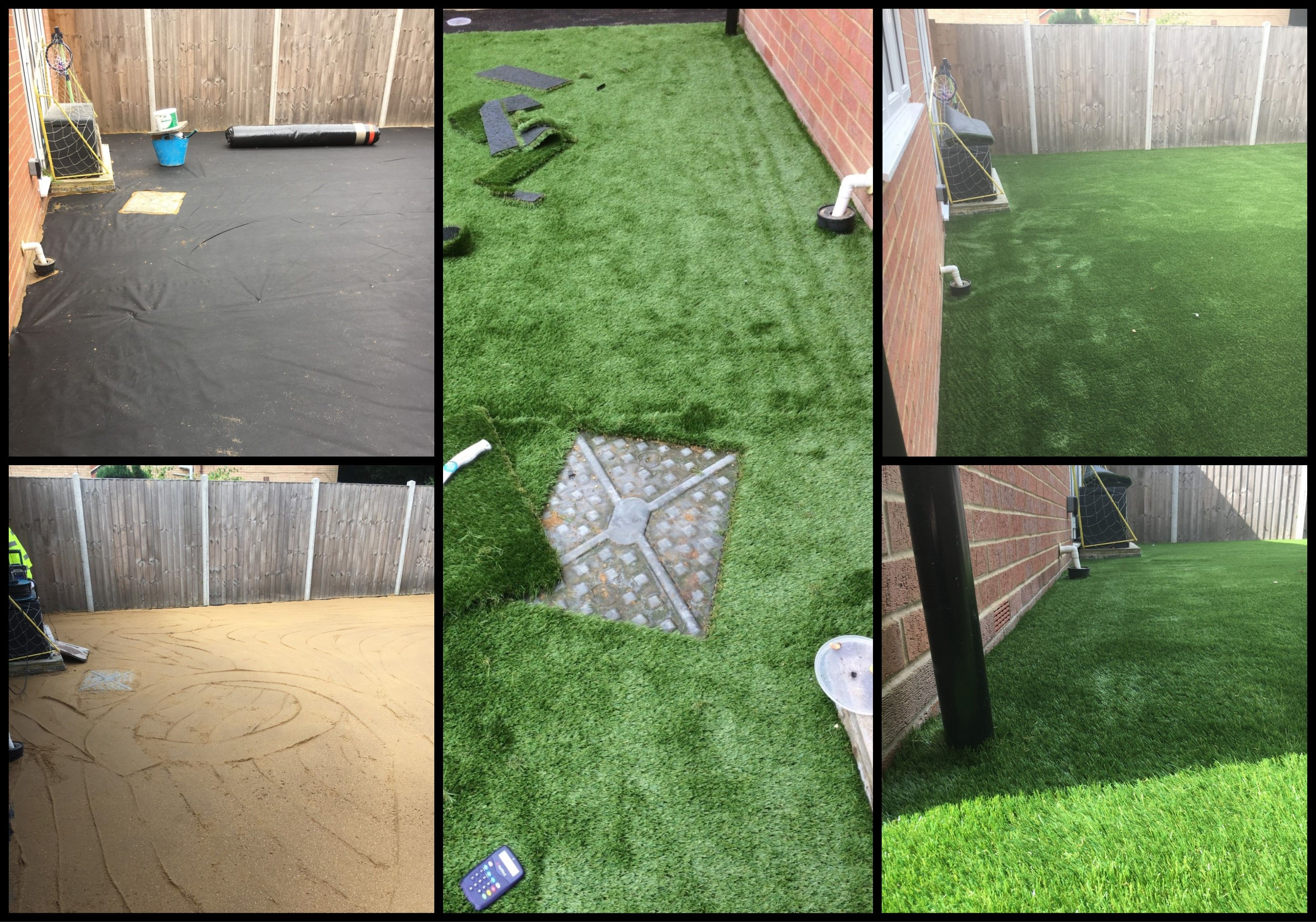 If you are thinking of laying artificial grass and have a manhole