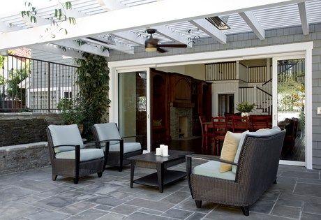great patio doors open to outdoor living space home outdoors