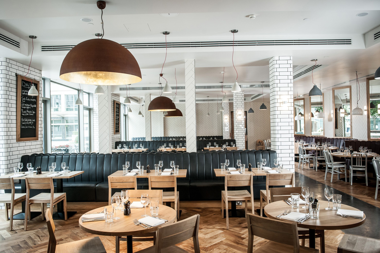 Inside Tom S Kitchen Canary Wharf Restaurant Interior Private Dining Bar Design