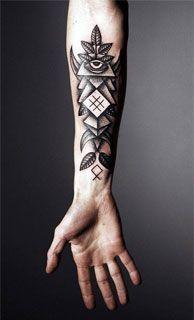 Fotos de tatuajes sencillos para hombres en brazos pectoral