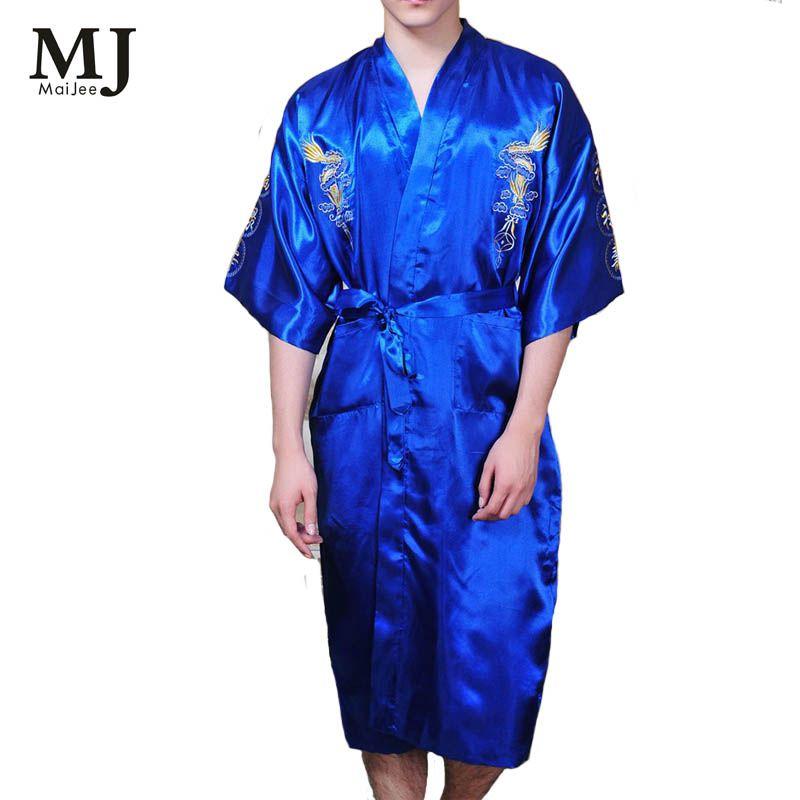 152de932f4 Click to Buy    Japanese Kimono Men Bath Robe Dressing Gown Men Peignoir.