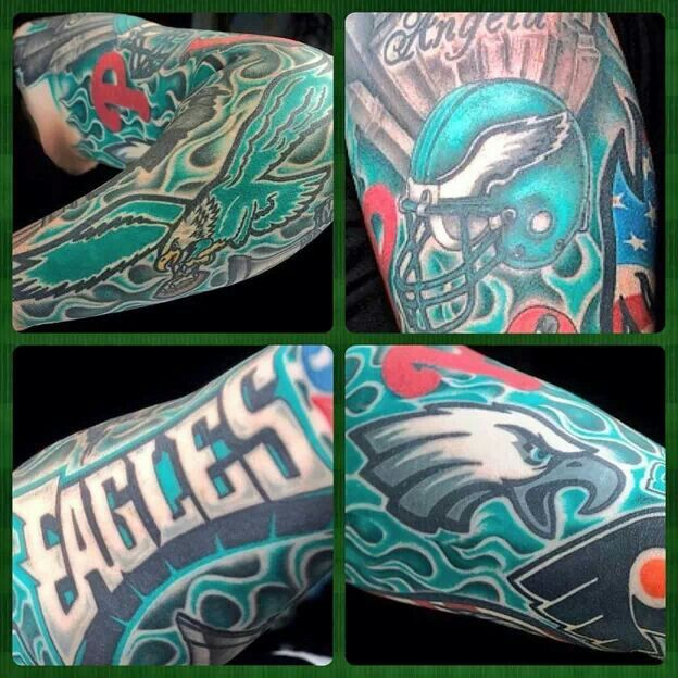 Eagles sleeve philadelphia eagles pinterest tattoo for Philly sports tattoo
