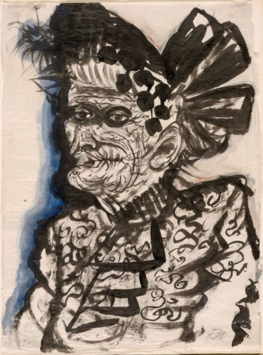 otto dix german 1891 1969 old woman c 1923 brush and black ink and watercolor on cream