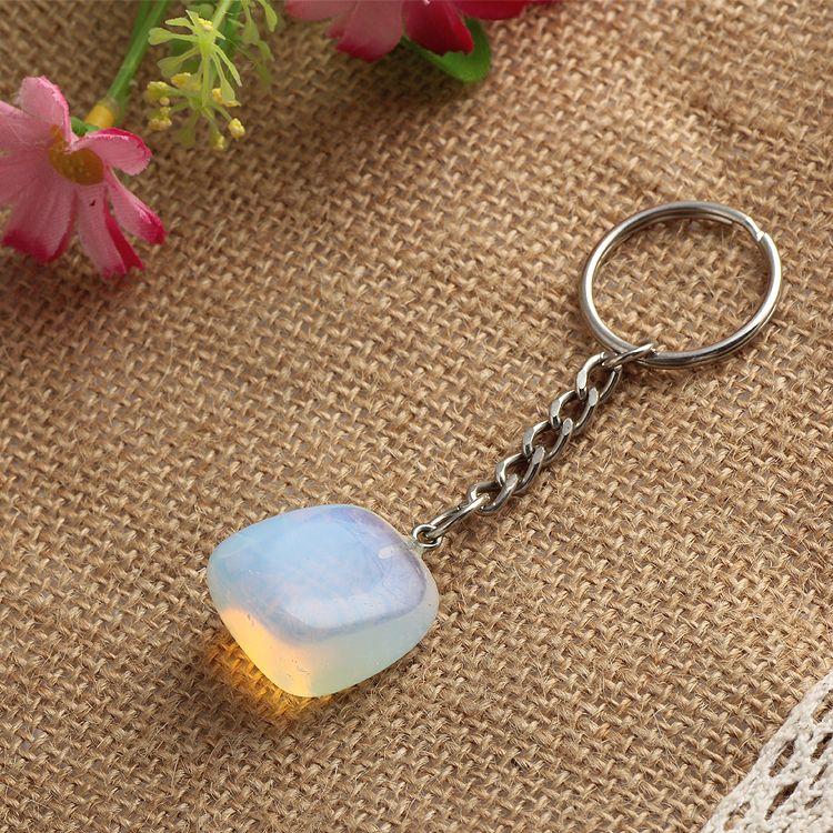 Encontrar Más Llaveros Información acerca de Cristal Natural opal ...