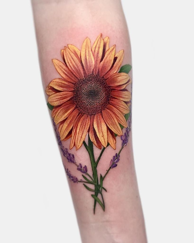 Traditional Sunflower Tattoo (Page 1) - Line.17QQ.com
