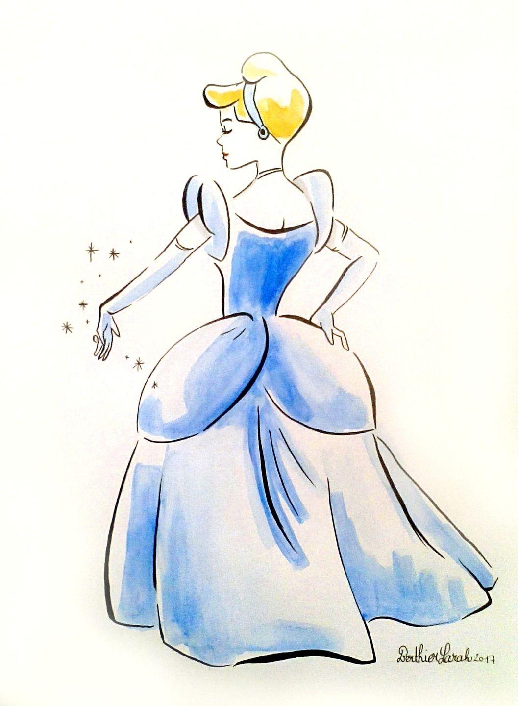 Dessin Peinture Inspiration Disney Mulan Aquarelle Effet