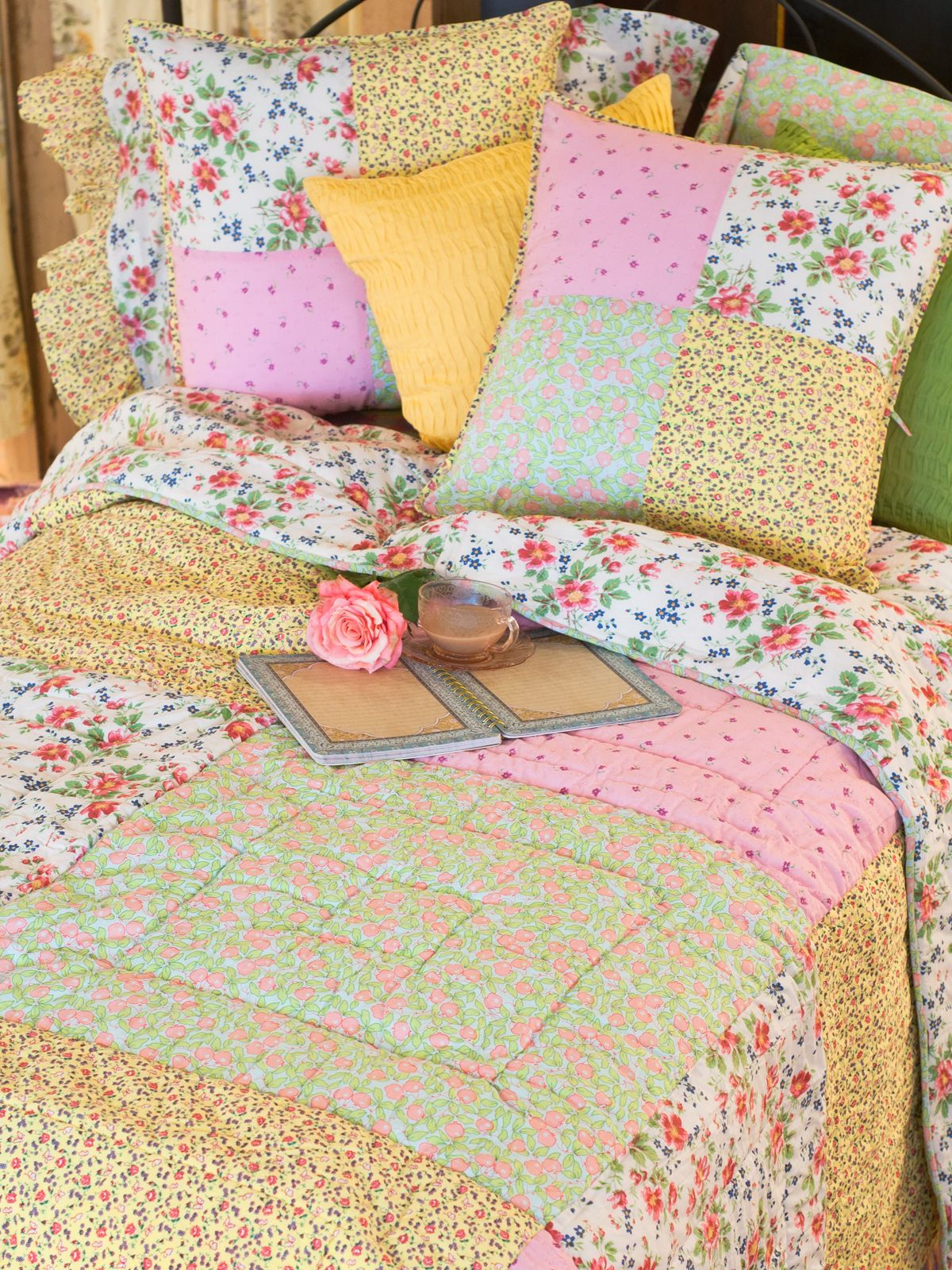 Joni Patchwork Queen Quilt | New Arrivals!, Bedding & Home :Beautiful Designs by April Cornell