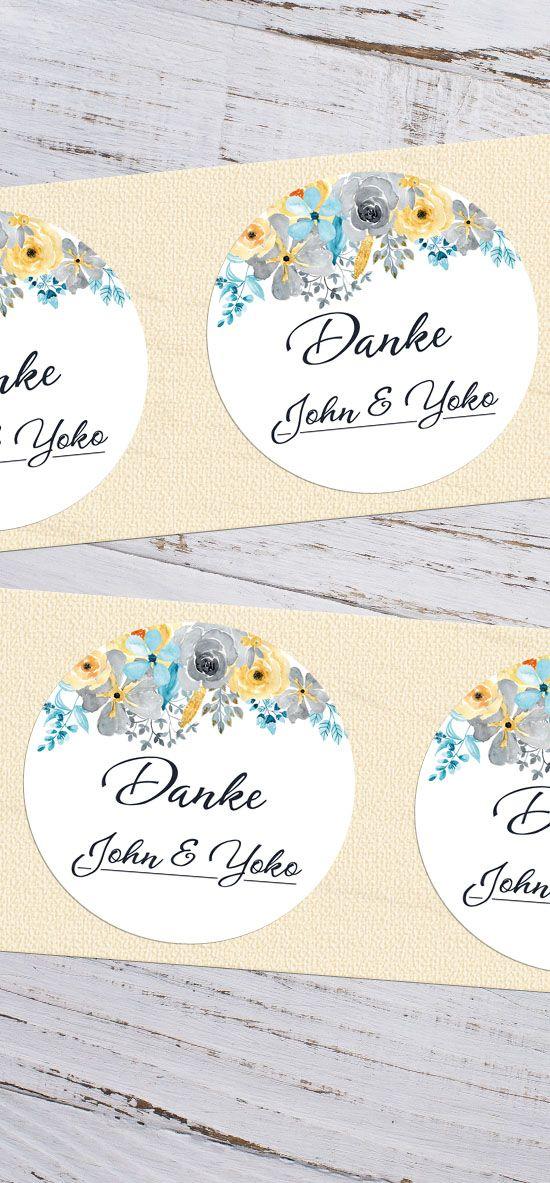 Klebeetiketten Aufkleber Etiketten für Gastgeschenke zur