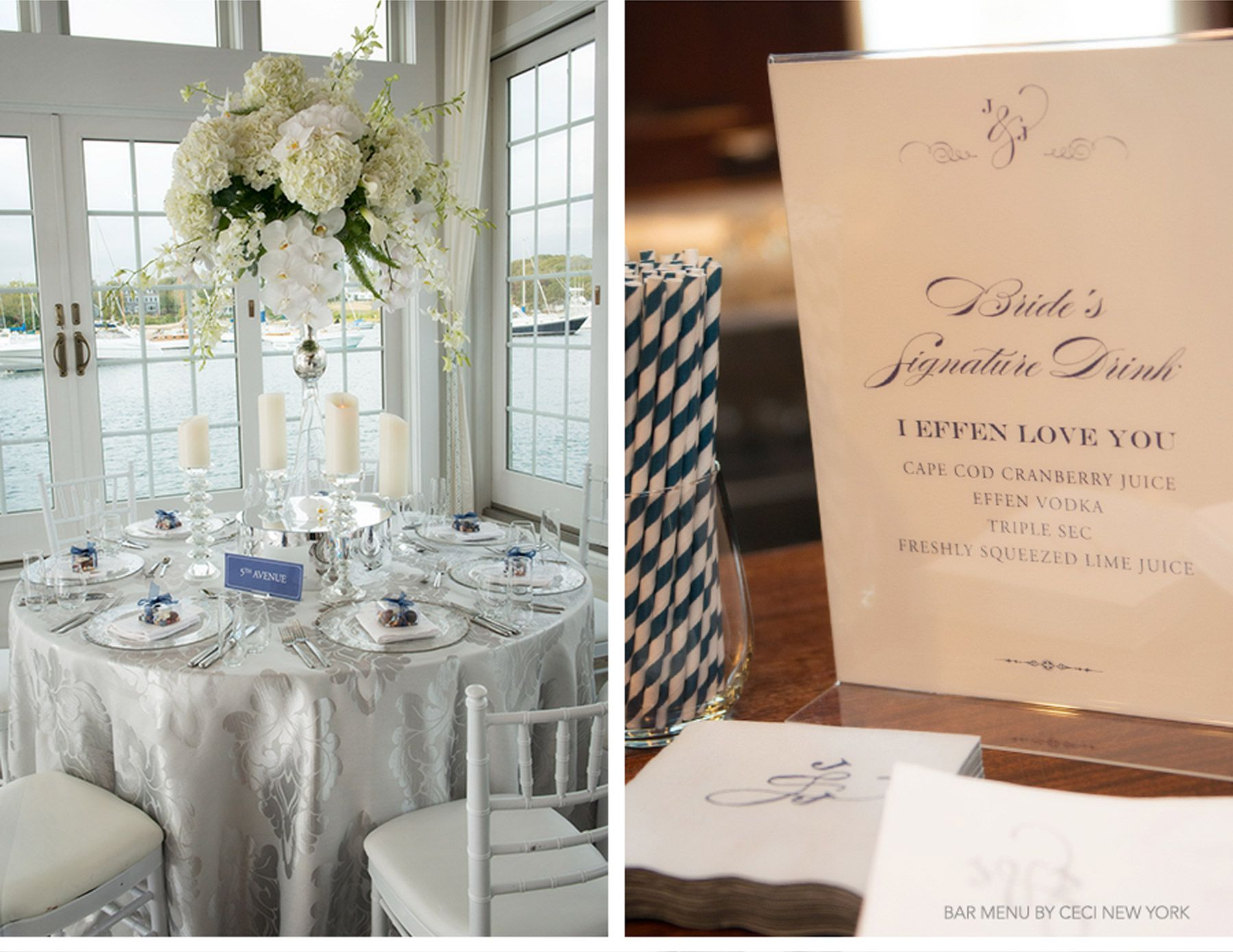 Nautical Navy Wedding As Seen In Cecistyle Navy Capecod