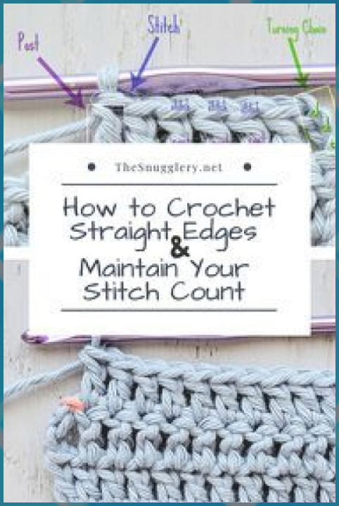 How to Crochet Straight Edges and Maintain Your Stitch Count #Count #CROCHET #Edges #Maintain #Stitch #Straight