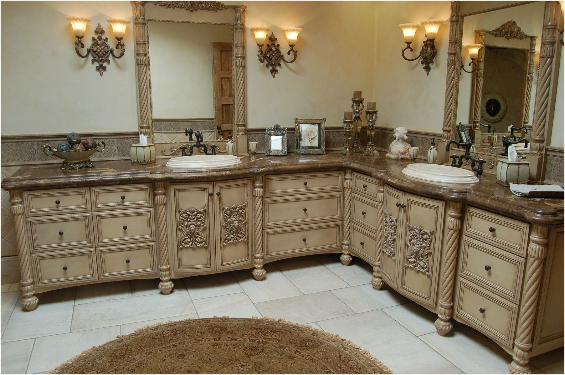 custom bathroom cabinets bathroom cabinets from Faux Finish Bathroom