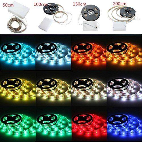 AUDEW 50 100 150 200CM Ruban  LED 5050 15 LED RVB étanche IP65