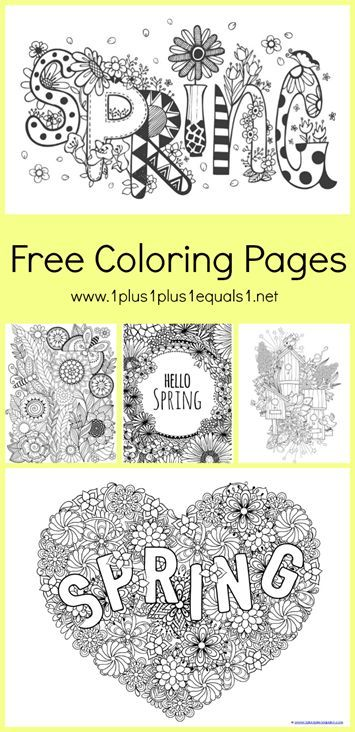 Spring Coloring Pages for Adults and Kids | Homeschool Ninjas ...