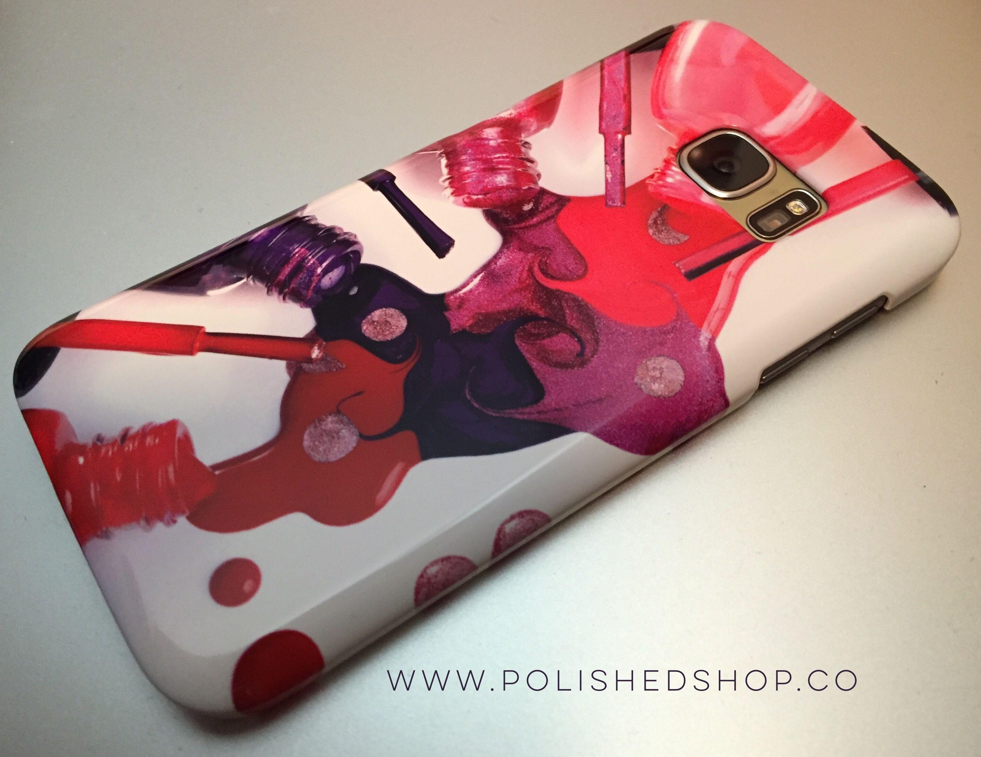 "Polished ""Splash of Color"" phone case on Samsung Galaxy 7"