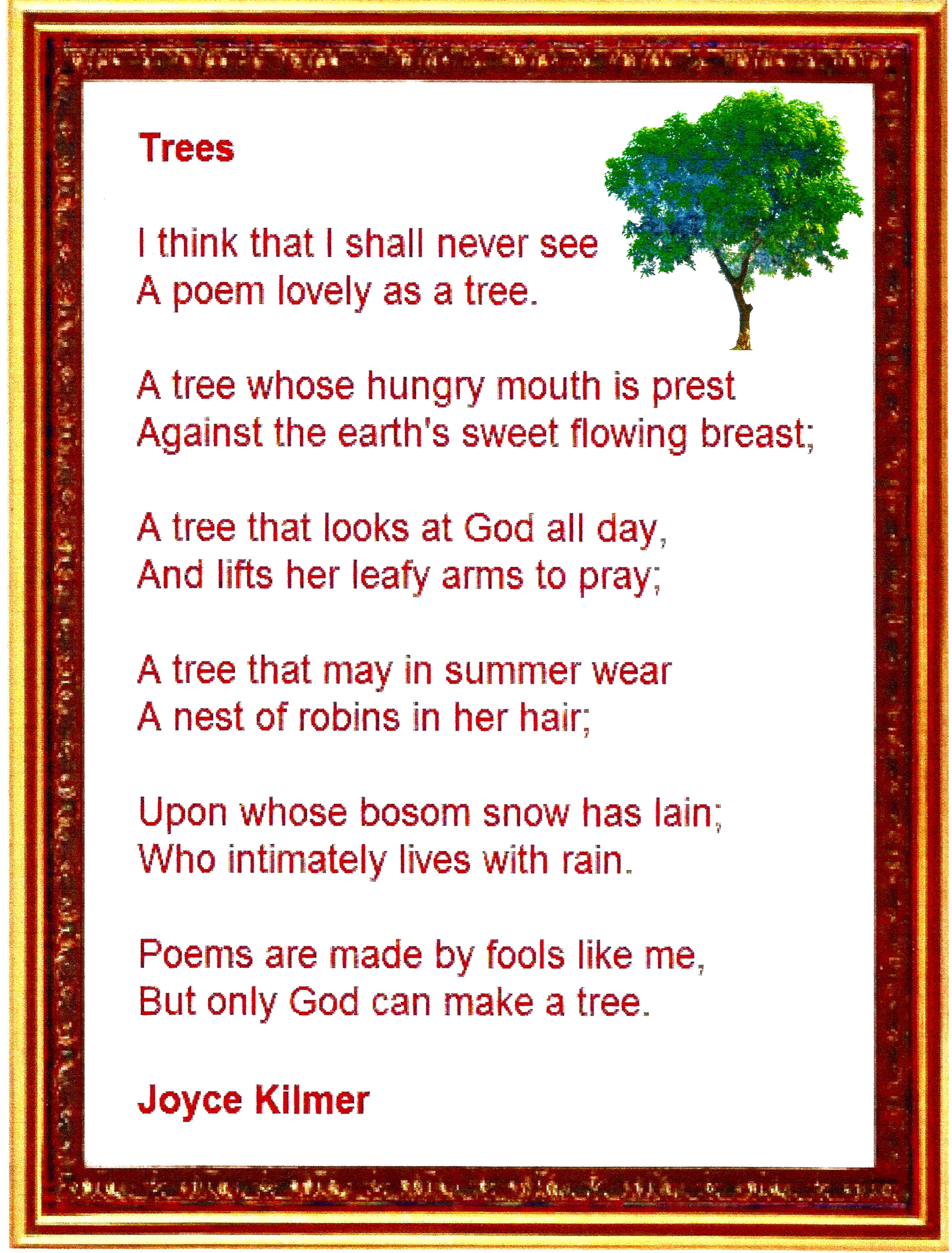 trees poem lyrics