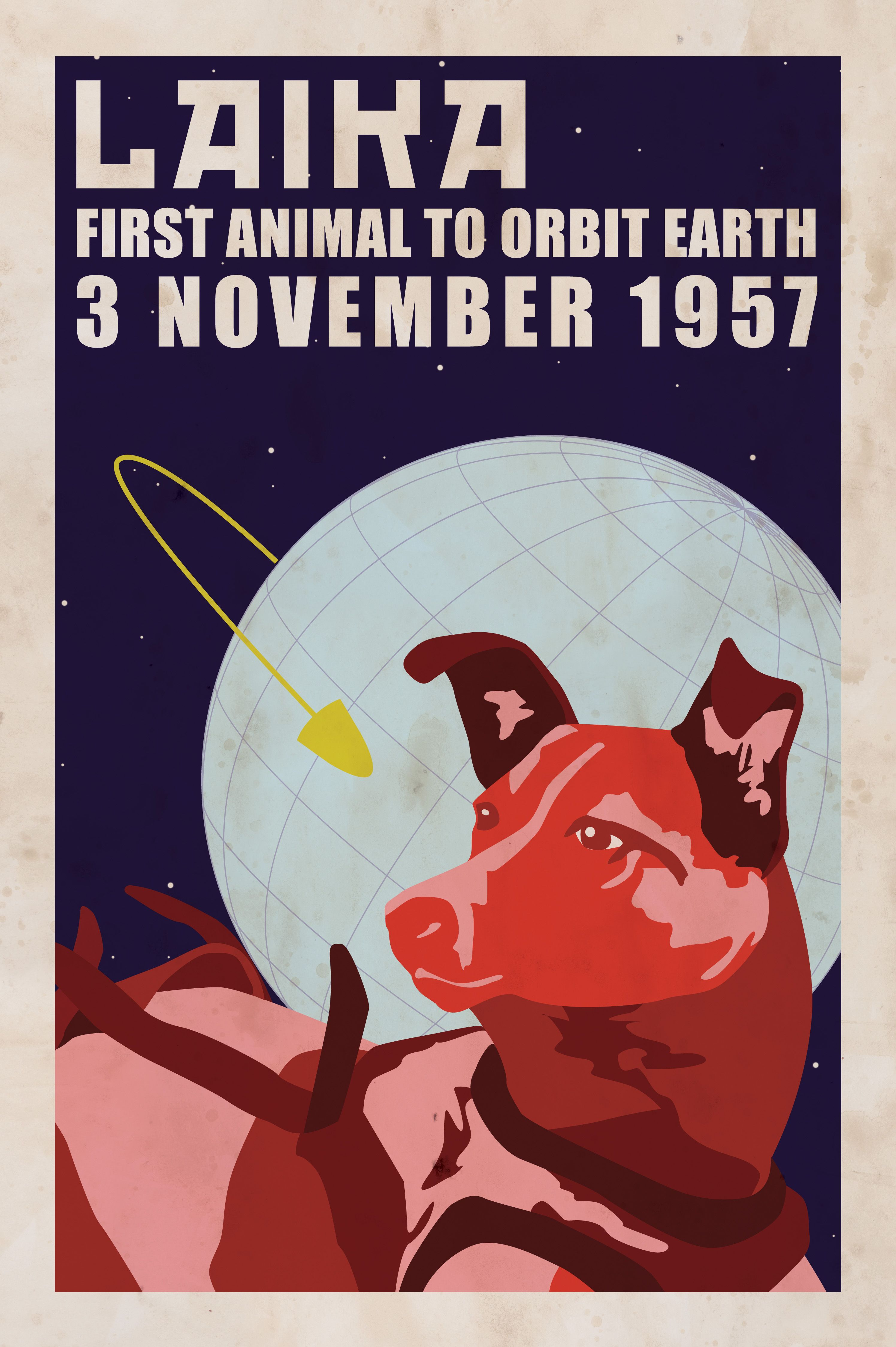 Can Vintage space poster
