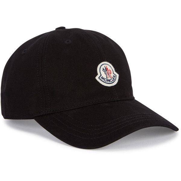 3b79ae1d473eb Moncler Black Cotton Twill Cap ( 115) ❤ liked on Polyvore featuring men s  fashion