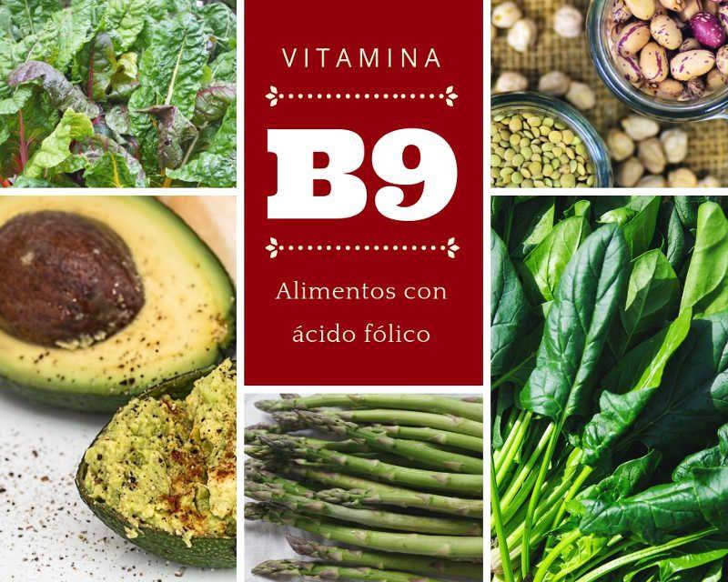 Alimentos con biotina y acido folico
