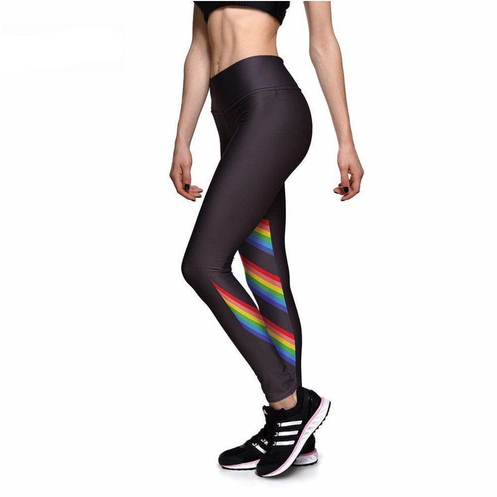 5851a910ac464 Rainbow Stripes Athletic Leggings - Leggy Me Leggings   Athletic ...