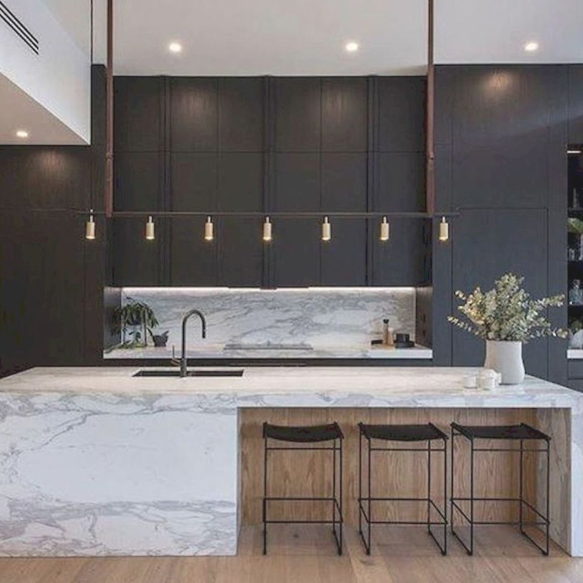 Stunning 41 Modern Kitchen Island Designs Ideas That Will Impress You Minimalist Kitchen Design Contemporary Kitchen Design Modern Kitchen Design