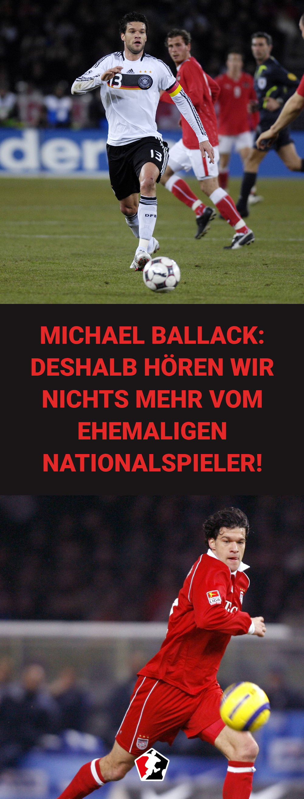 Viele Erinnern Sich Noch An Den Mittelfeld Spieler Michael Ballack Schliesslich Hat Er Funf Nati Michael Ballack Fussball Nationalmannschaft Fussball Ergebnisse