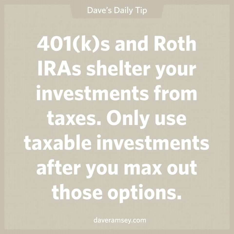401(k)s and Roth IRAs shelter your investments from taxes