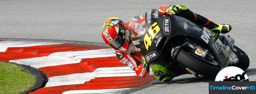 Valentino Rossi Race Timeline Cover 850x315 Facebook Covers - Timeline Cover HD