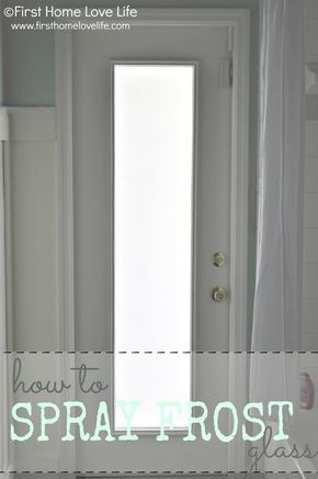 Contemporary How to Spray Frost a Glass Door for Privacy First Home Love Life Contemporary - Awesome frosted interior door Picture