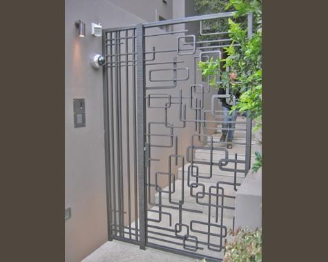 Example of a mid century modern metal gate