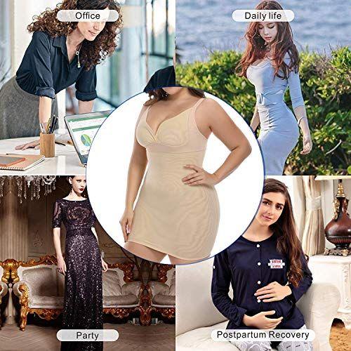 50904273d7e Shapewear Slip for Women Plus Size Full Slips Under Dress Long Cami  Seamless Body Shaper Slimmer,#Size, #Full, #Slips, #Shapewear