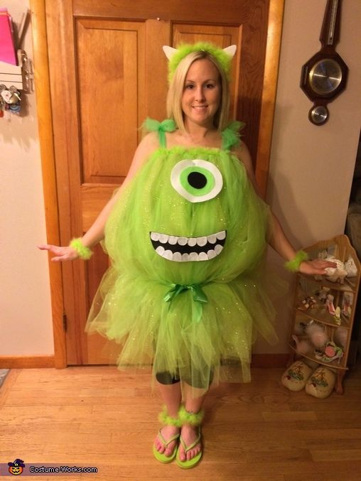 DIY Mike Wazowski Costume  sc 1 st  Pinterest : mike monsters inc halloween costume  - Germanpascual.Com