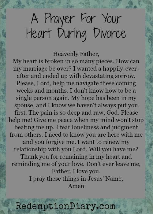 Catholic prayer to stop divorce