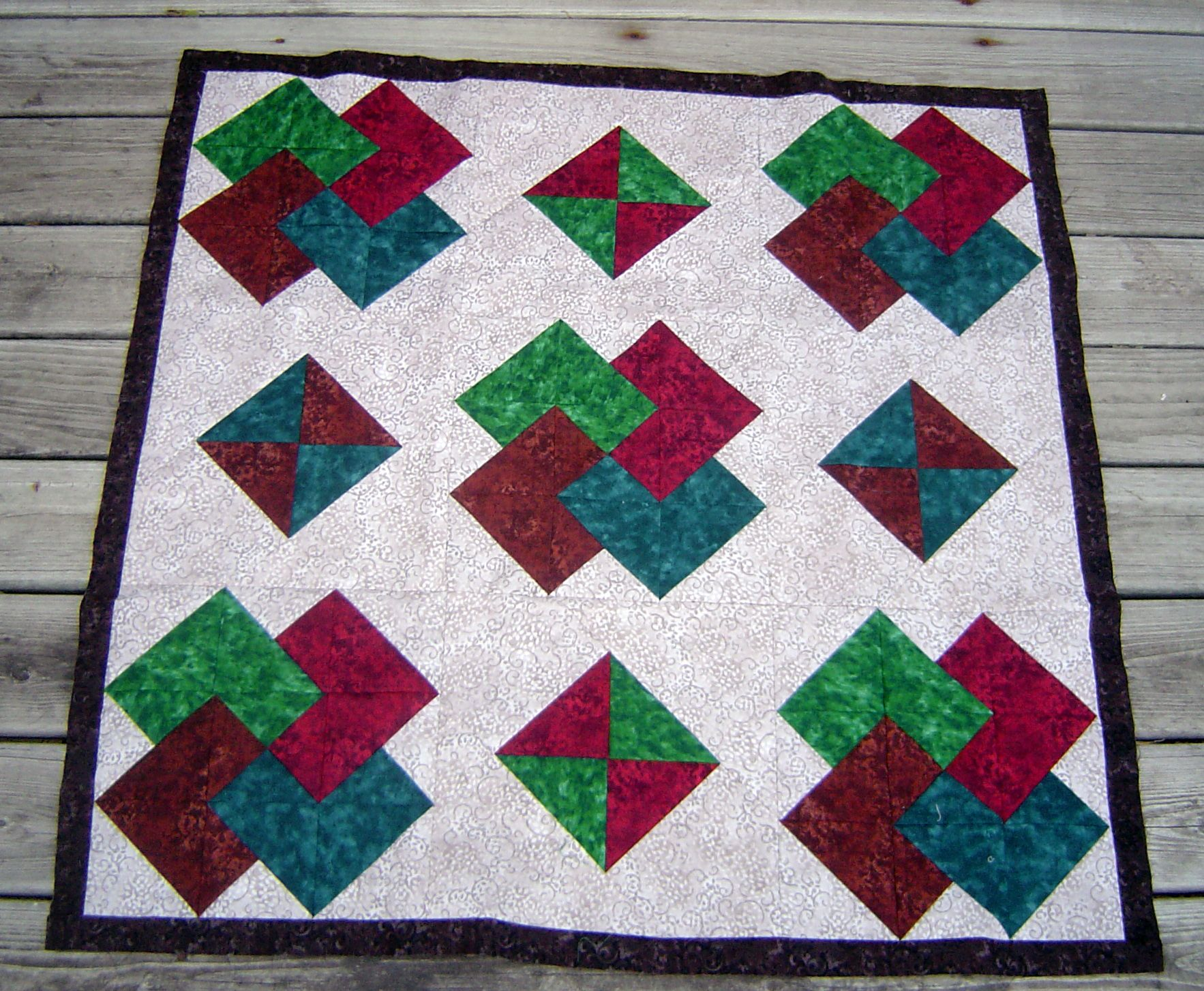 20.3 Borders Abound | Card tricks, Patchwork and Quilting projects : card trick quilt block - Adamdwight.com