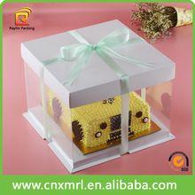 Decorative Bakery Boxes Birthday Cake Clear Pvc Window Box With Ribbondecorative Cake Box